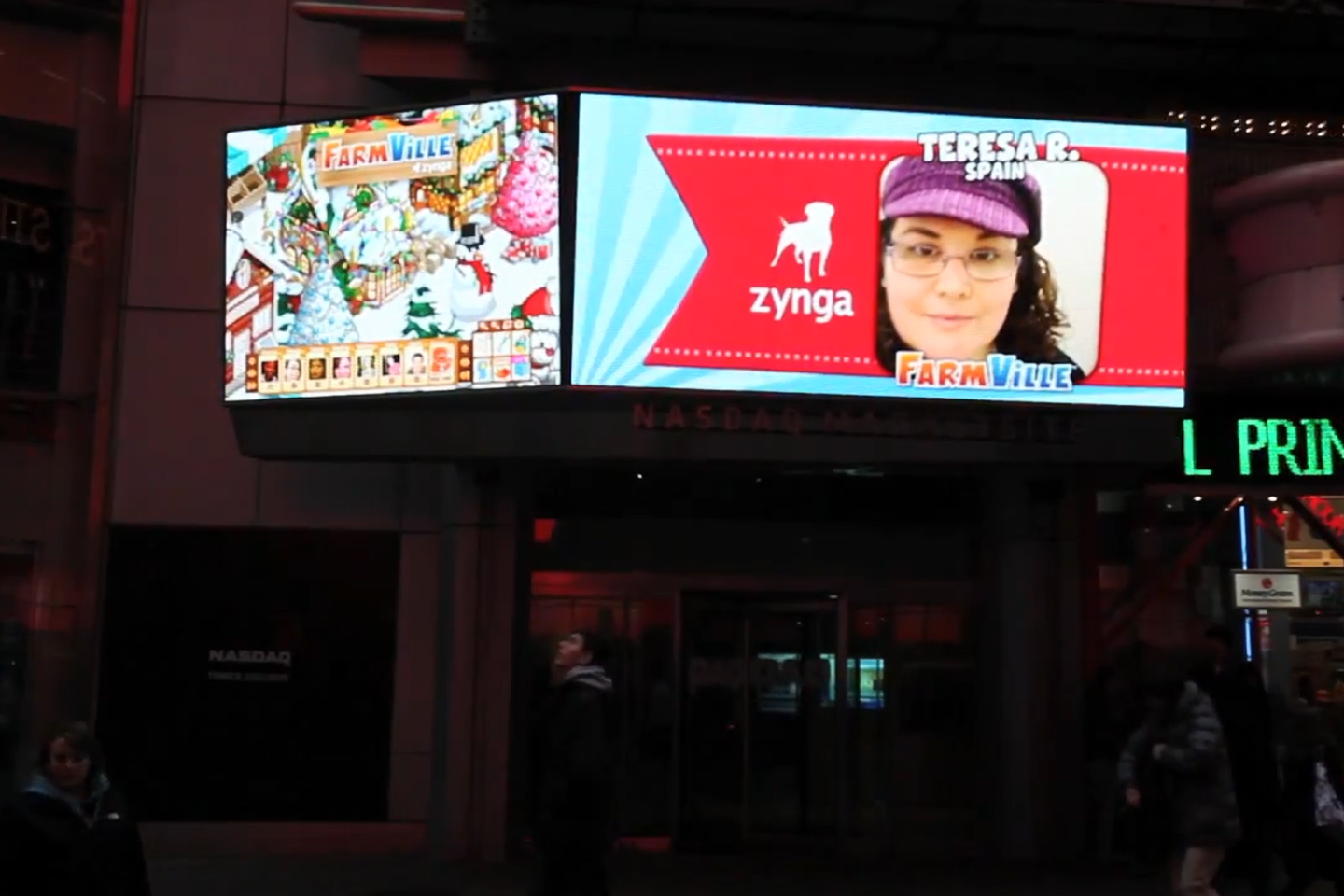 Zynga - Times Square Takeover